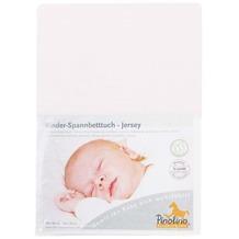 Pinolino Spannbetttuch für Kinderbetten Uni rosa