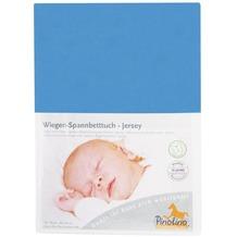 Pinolino Spannbetttuch für Wiegen Uni blau