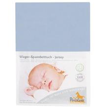 Pinolino Spannbetttuch für Wiegen Uni hellblau
