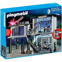 Playmobil 5176 Polizei-Kommandostation mit Alarmanlage