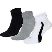 PUMA Lifestyle Quarters (3 Paar) white / grey / black 39/42