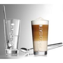 Flirt by R&B 2er Latte Macchiato Glas konisch 350ml klar weiß