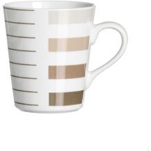 Flirt by R&B Kaffeebecher Porzellan 8x8x10cm 300ml MORENO beige braun