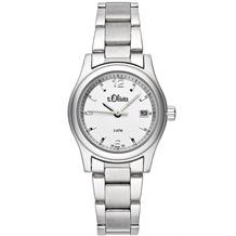 s.Oliver Damen-Armbanduhr SO-929-MQ silber