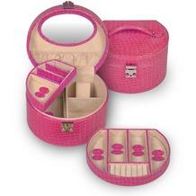 Sacher Schmuckkoffer jewellery box pink / Kroko