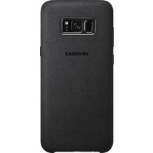 Samsung Alcantara Cover EF-XG955AS für Galaxy S8+ dunkelgrau