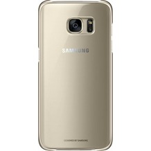 Samsung Clear Cover für Galaxy S7 edge, gold