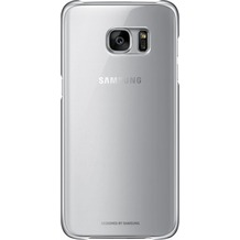 Samsung Clear Cover für Galaxy S7 edge, silver