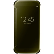 Samsung Clear View Cover - Galaxy S6 - Gold