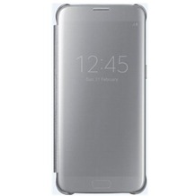Samsung Clear View Cover - Galaxy S7 edge - silver