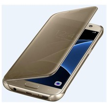 Samsung Clear View Cover - Galaxy S7 - gold