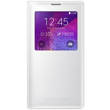 Samsung S-View Cover EF-CN910 für Note 4, Classic Weiß