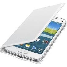 Samsung Flip Cover EF-FG800 für Galaxy S5 mini, perforiert-weiß