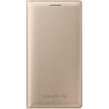 Samsung Flip Cover für Galaxy A3 gold