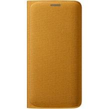 Samsung Flip Wallet Textil, für Galaxy S6 Edge, Gelb