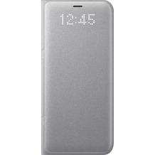 Samsung LED View Cover EF-NG950PS für Galaxy S8 silber