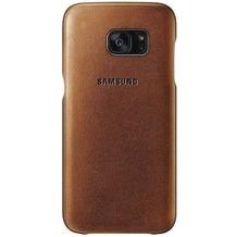 Samsung Leder Cover für Galaxy S7 edge / G935F - beige