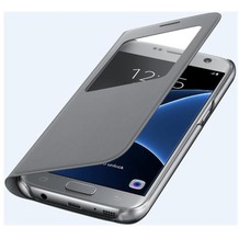 Samsung S View Cover für Galaxy S7, silver