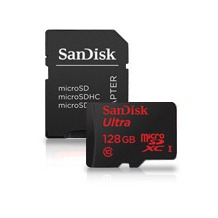 Sandisk Ultra 128GB microSDHC SD Adapter und Memory Zone Android App 80MB/s Class10 UHS-I