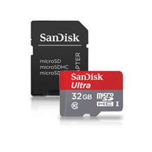 Sandisk Ultra Android 32GB microSDHC SD Adapter und Memory Zone Android App 80MB/s Class10 UHS-I