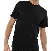 Schiesser Shirt kurzarm American T-Shirt Rundhals Doppelpack schwarz 4XL