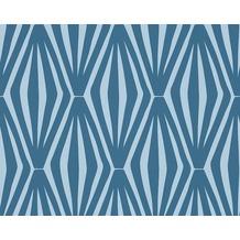 Sch ner wohnen tapete in der farbe blau bei hertie kaufen for Mustertapete blau