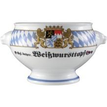 Seltmann Weiden Terrine Löwenkopf ohne Deckel 2,00 l Compact Bayern 27110 blau, gelb, rot/rosa