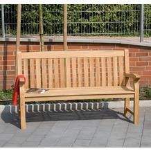 Siena Garden Bank Bavaria, Teakholz, 3-sitzig, L 160 x B 71,5 x H 96 cm