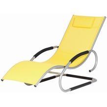 Siena Garden Adria Swing Liege silber/gel Alu silber/Bezug gelb