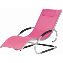 Siena Garden Adria Swing Liege silber/pin Alu silber/Bezug pink