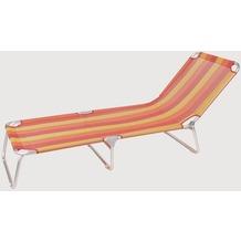 Siena Garden Dreibeinliege Kamiros Ranotex®-Gewebe Streifen rot