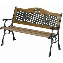 gartenbank mit eisen gestell. Black Bedroom Furniture Sets. Home Design Ideas