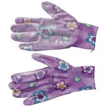 Siena Garden Handsch. Young Style,lila Nylon, Nitril, Gr. 7