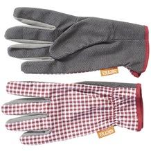 Siena Garden Handschuh Easy Grip Caro Baumw., PVC Noppen rt,weiß