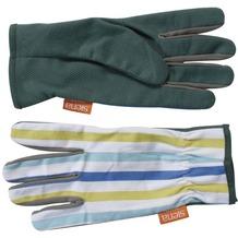 Siena Garden Handschuh Easy Grip m.Str Baumw., PVC Noppen bl,weiß