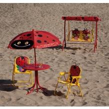Siena Garden Kinderset Marie, Stahlgestell, Bezug Polyester, bestehend aus: 2 Klappsesseln, 1 Tisch, 1 Schirm