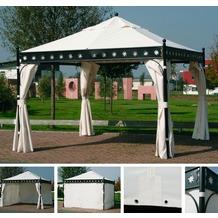 Siena Garden Pavillon Korfu, Bezug natur, inkl. Seitenteilen, Polyester, L350 x B 350 x H 300 cm