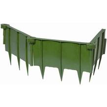 Siena Garden Schneckenschutzzaun aus Kunststoff, 4-teilig, grün, Kunststoff