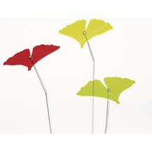 Siena Garden Set Sonnenfänger Gingkoblatt, 3-teilig, Acrylglas / Metall, grün, gelb, rot 10,5x13,5x76cm