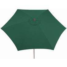 Siena Garden Sonnenschirm Push Up, Gestell: silber, Polyester: grün, Ø 300 cm