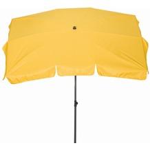 Siena Garden Sonnenschirm Tropico, gelb, Gestell: anthrazit, Polyester gelb, UV+50, L 210x B 140cm