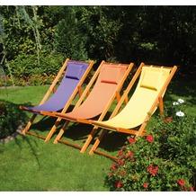 Siena Garden Strandliegestuhl Faro, orange, 110 x 58 x 90 cm
