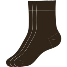 s.Oliver Socken 3er Pack 17 dark brown 35/38