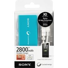 Sony Akku Pack Li-Ion, Micro-USB, 5V/2.800mAh, blau