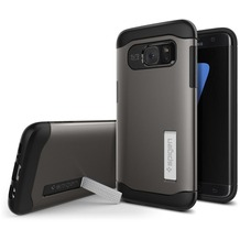 Spigen Slim Armor for Galaxy S7 Edge gun metal