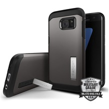 Spigen Tough Armor for Galaxy S7 Edge gun metal
