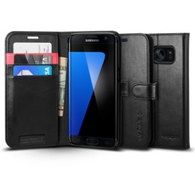 Spigen Wallet S for Galaxy S7 Edge schwarz