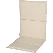 Stern Auflage ca.115x50x2 cm für Klappsessel 100% Polyester, Dessin natur Struktur