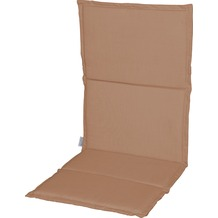 Stern Auflage ca.115x50x2 cm für Klappsessel 100 % Polyester, Dessin uni sand