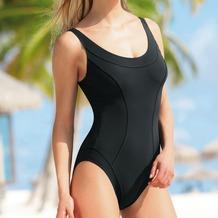 Sunflair Badeanzug mit Petticoatstütze, schwarz 38B